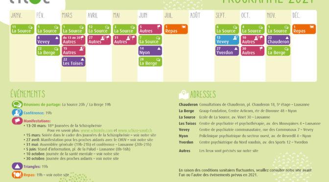 Programme 2021 des événements de *l'îlot*